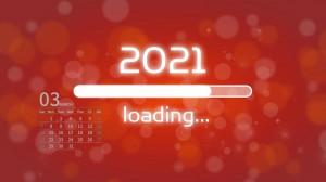 2021年3月创意新年日历壁纸图片