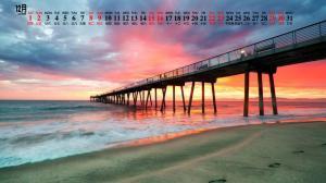 2018年12月海滩美景图片日历壁纸