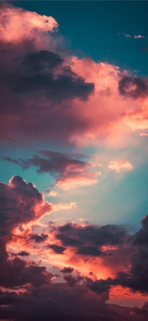 晚霞映红了天