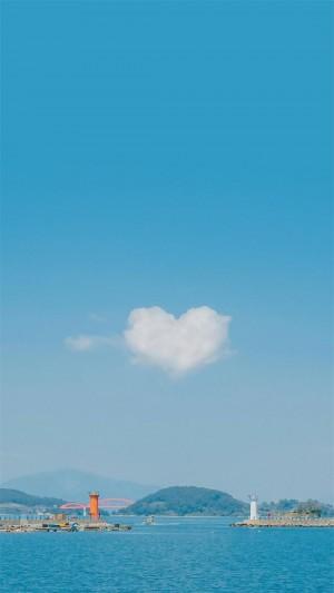 蓝天白云清新自然美景高清手机壁纸