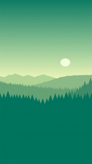绿色清新风格卡通高清手机壁纸