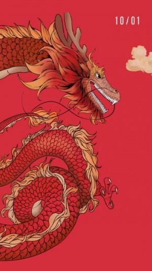 中国龙与你一起喜迎国庆