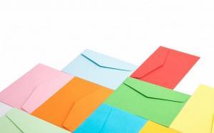 精选颜色丰富纸质平滑的信封高清图片
