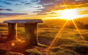 拥抱温暖正能量高清清晨阳光唯美图片