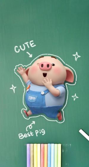 呆萌可爱的猪小屁
