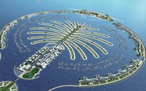 迪拜棕榈岛旅游高清图片