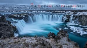 2020年7月壮丽瀑布溪流唯美高清日历壁纸