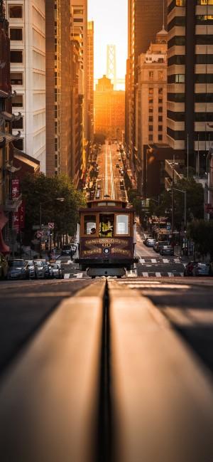 唯美城市建筑风景全面屏高清手机壁纸