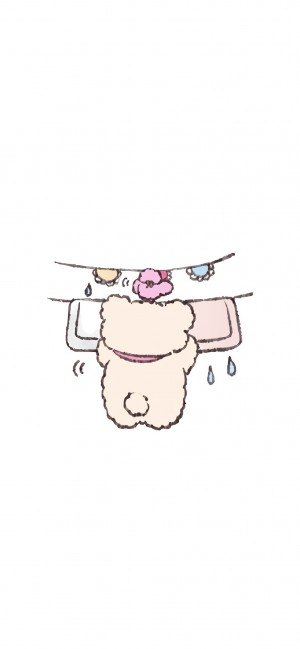 可爱手绘卡通小熊手机壁纸