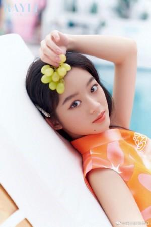 黄杨钿甜清新甜美写真图片