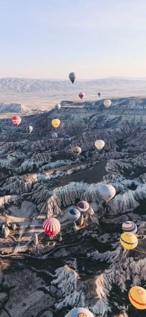 土耳其卡帕多西亚的热气球