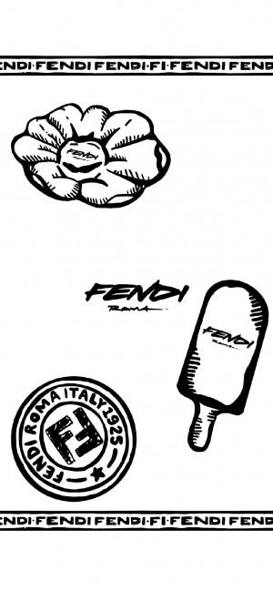 Fendi创意潮流个性高清手机壁纸