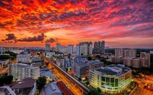 繁华都市新加坡璀璨夜景