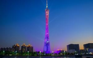 广州塔标志性历史建筑风光美景