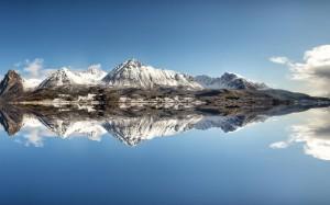 遇見絕美的雪山風景