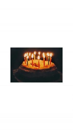 朋友圈生日蛋糕图手机壁纸