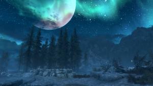 天空夜晚风景梦幻意境图片