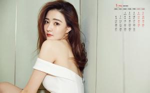 2019年5月徐璐妩媚诱人写真日历壁纸