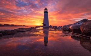 唯美迷人的落日余辉风光美景
