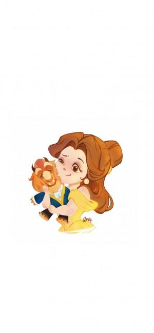 迪士尼公主Q版可爱形象高清手机壁纸