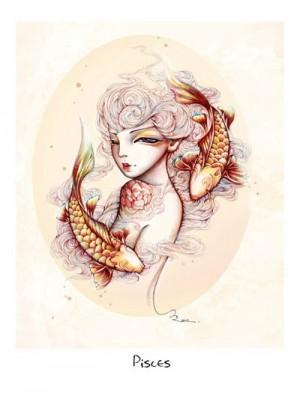双鱼座唯美插画图片