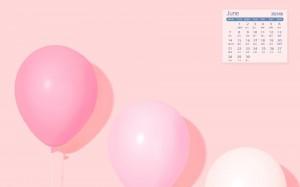 2021年6月浪漫唯美气球日历壁纸