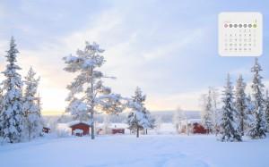 2020年1月各地冰天雪地唯美风光日历
