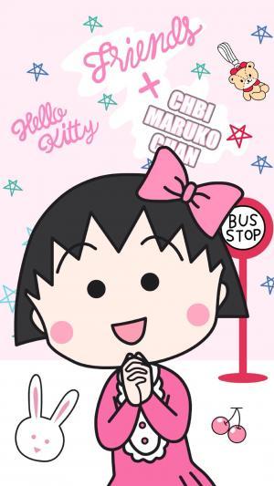 日本国民动画樱桃小丸子可爱呆萌高清手机壁纸