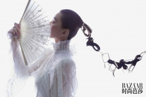 刘诗诗时尚芭莎复工首封大气写真图片