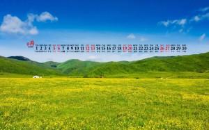 2020年9月乡村绿地风景自然桌面日历壁纸