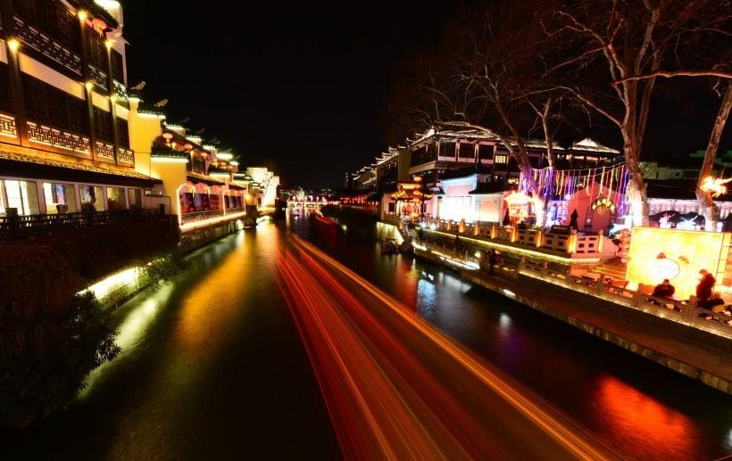 南京夫子庙夜景写真