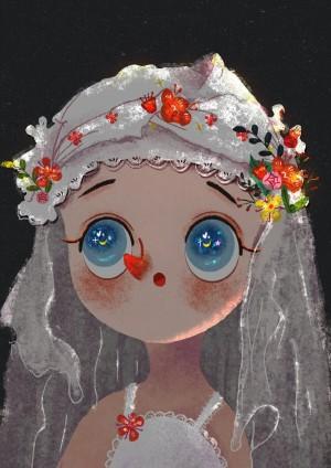 炫彩可爱女生卡通头像图片