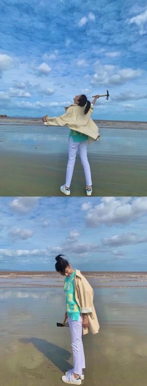 宋祖儿假日海边青春活力活力满满美照图片