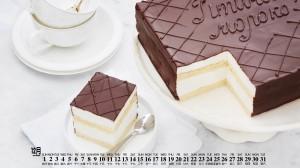 2019年12月美味可口的甜品日历壁纸