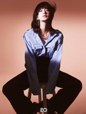 李沁裸妆时尚魅力气质写真图片