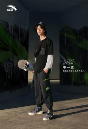 王一博酷黑运动造型品牌广告大片