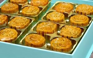 鲜香美味中秋月饼高清桌面壁纸