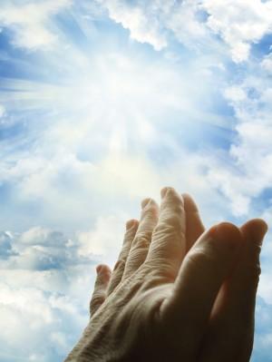 双手合十祈祷图片