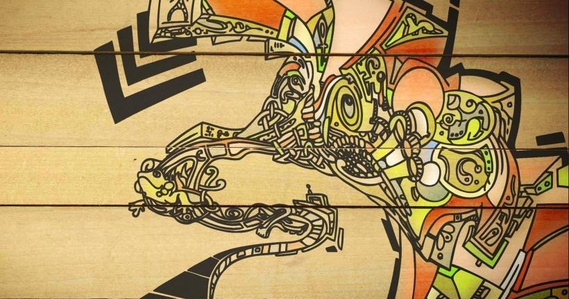 腦洞大開時尚和不羈的街頭涂鴉藝術圖片