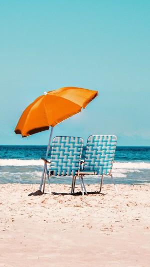 优美惬意海岸风景图片手机壁纸
