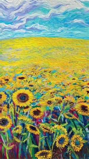 创意抽象油画风格高清手机壁纸