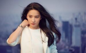 气质女神刘亦菲白色西装优雅御姐写真