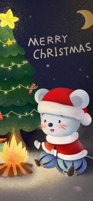 圣诞小老鼠祝你圣诞快乐