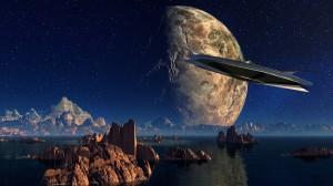 二次元科幻风格星球创意瑰丽美景图片