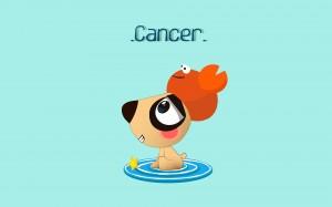 可爱巨蟹座卡通插画图片