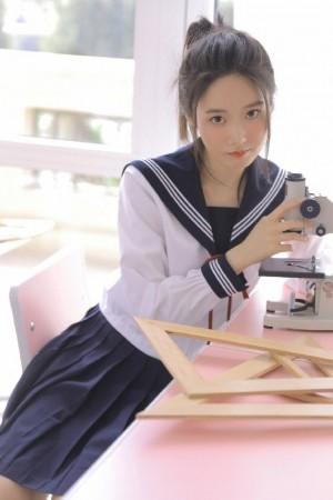 日系美女小清新JK校服性感写真图片