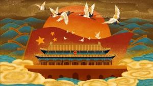 精美中國風手繪插畫桌面壁紙