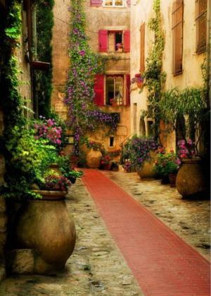 唯美異域風情街頭小巷圖片