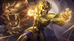 王者荣耀达摩黄金狮子座新皮肤图片