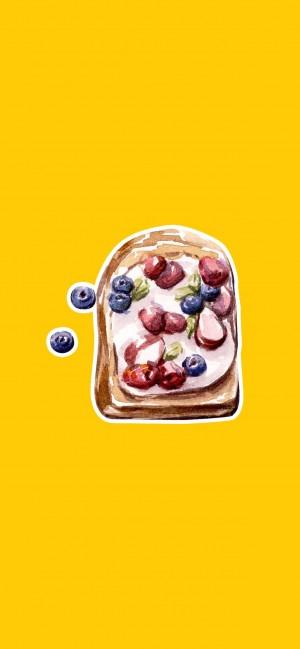 簡約美食手繪高清手機壁紙